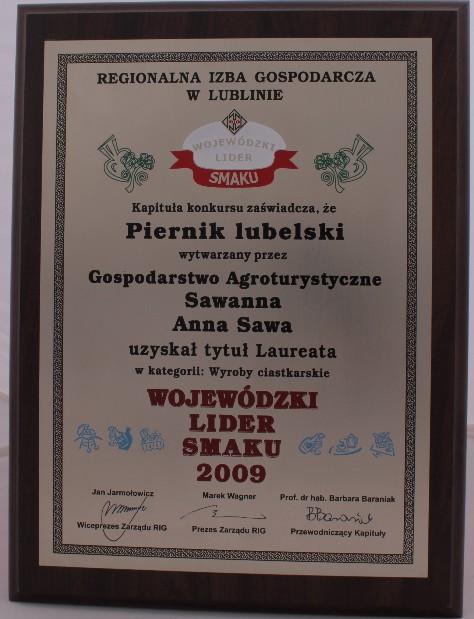 Wojewódzki lider smaku 2009 Sawanna